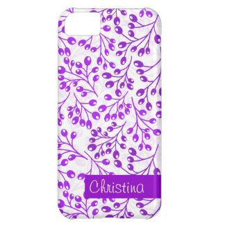 かわいい紫色の秋の果実 iPhone5Cケース