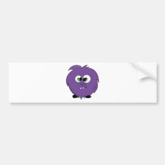 かわいい紫色モンスター バンパーステッカー
