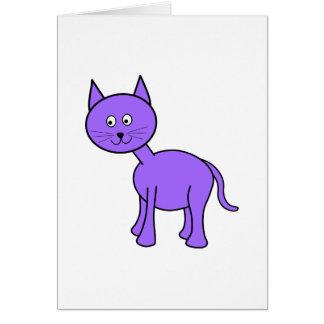 かわいい紫色猫の漫画 カード