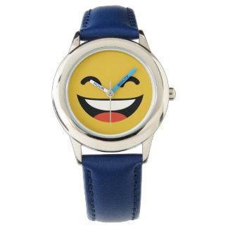 かわいい終わりemojiを笑わせるあなたの目 腕時計