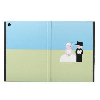 かわいい結婚式のカップル iPad AIRケース