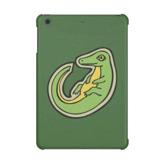 かわいい緑および黄色のわにスケッチのデザイン iPad MINI RETINAケース