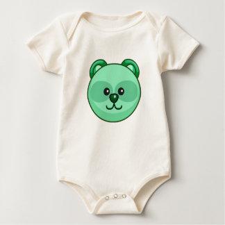 かわいい緑くまの漫画のカスタマイズ可能な赤ん坊 ベビーボディスーツ