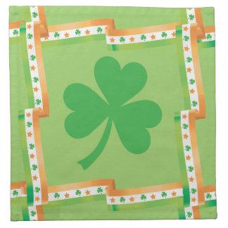 かわいい緑のアイルランドのシャムロック ナプキンクロス