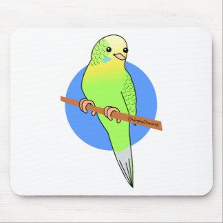 かわいい緑のインコ マウスパッド