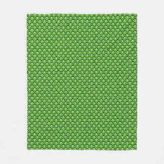 かわいい緑のエイリアンパターンフリースブランケット フリースブランケット