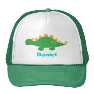 かわいい緑のステゴサウルスの恐竜のための キャップ