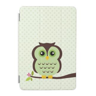 かわいい緑のフクロウ iPad MINIカバー