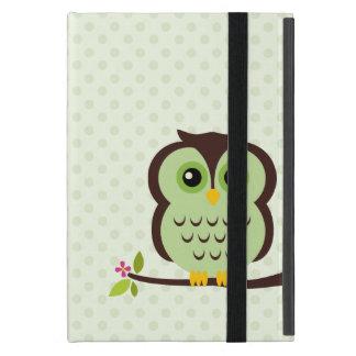 かわいい緑のフクロウ iPad MINI ケース