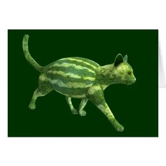 かわいい緑のメロンBengalcat カード