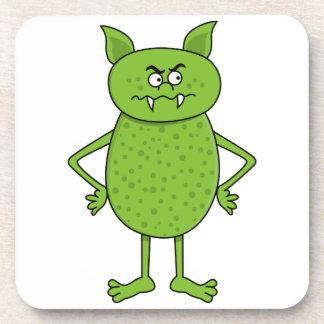 かわいい緑の小悪魔の漫画 コースター