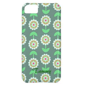 かわいい緑の漫画によってはiPhone 5cカバーが開花します iPhone5Cケース