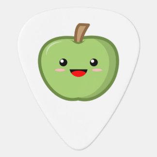 かわいい緑のApple ギターピック