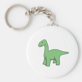 かわいい緑のBrontosaurus キーホルダー