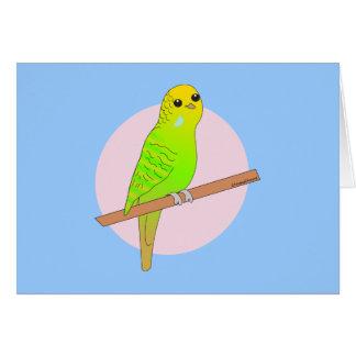 かわいい緑のBudgie カード