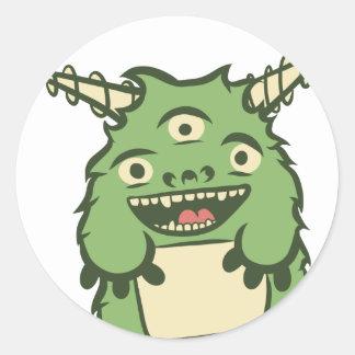 かわいい緑のmonter ラウンドシール