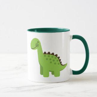 かわいい緑恐竜 マグカップ