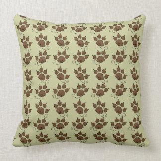 かわいい緑犬の足犬のベッド クッション