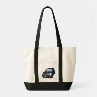 かわいい緑車のバッグ トートバッグ