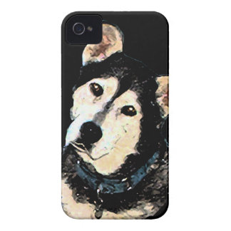 かわいい羊飼いハスキーな犬のポートレート Case-Mate iPhone 4 ケース