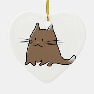 かわいい脂肪質の子猫 セラミックオーナメント