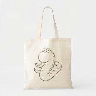 かわいい脂肪質の漫画のヘビのキャンバスのトートバック トートバッグ