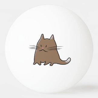 かわいい脂肪質猫 卓球 球