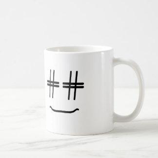 かわいい色# Hashtagのスマイリーフェイスを選んで下さい コーヒーマグカップ