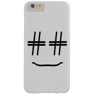 かわいい色# Hashtagのスマイリーフェイスを選んで下さい Barely There iPhone 6 Plus ケース