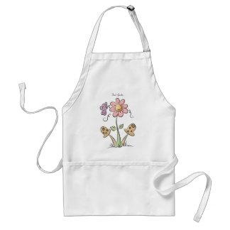 かわいい花のエプロン スタンダードエプロン