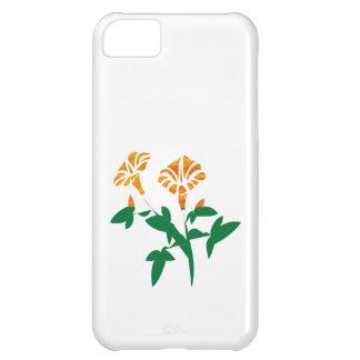かわいい花のグラフィック: シンプルの美しい iPhone5Cケース