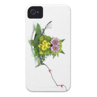 かわいい花のフクロウ Case-Mate iPhone 4 ケース