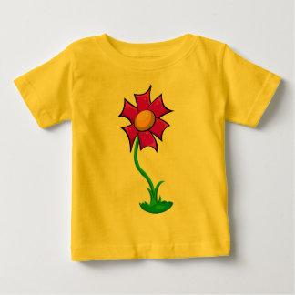 かわいい花の漫画のイラストレーション ベビーTシャツ