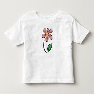 かわいい花の漫画の花のスケッチの落書き トドラーTシャツ