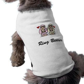かわいい花嫁 犬用袖なしタンクトップ