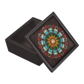 かわいい花柄の抽象芸術のベクトル芸術の優れたギフト用の箱 ギフトボックス