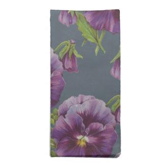 かわいい花柄、パンジー ナプキンクロス