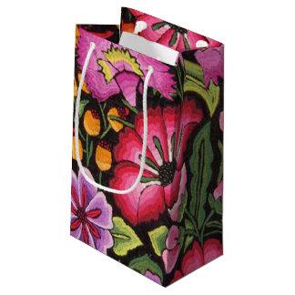 かわいい花柄、花 スモールペーパーバッグ