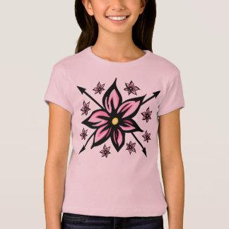かわいい花柄 Tシャツ