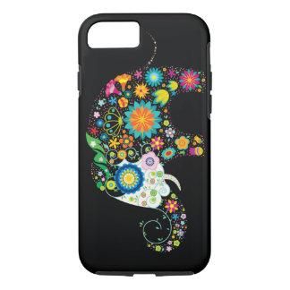 かわいい花象の花動物のベクトル iPhone 8/7ケース