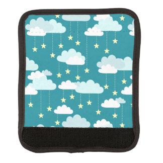かわいい落下星及び雲パターン ラゲッジ ハンドルラップ