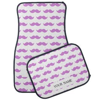 かわいい薄紫および白い髭パターン1 カーマット