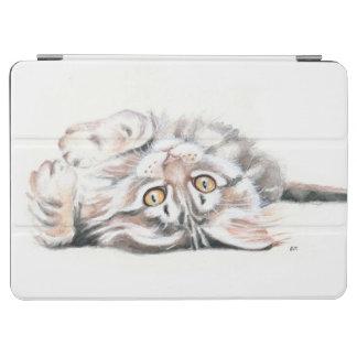 かわいい虎猫のメインのあらいぐまの子ネコの水彩画 iPad AIR カバー