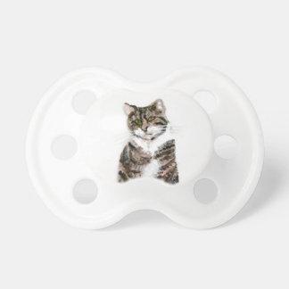 かわいい虎猫猫の芸術 おしゃぶり