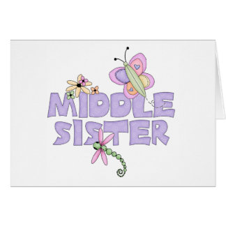 かわいい虫の中間の姉妹 カード