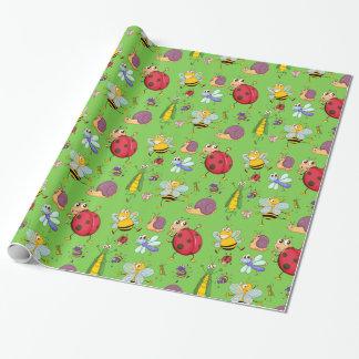 かわいい虫の包装紙 ラッピングペーパー