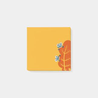 かわいい虫は秋の葉を食べます ポストイット