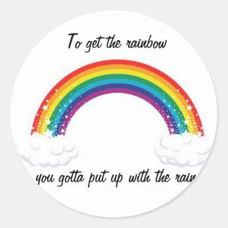 かわいい虹のステッカー! ラウンドシール