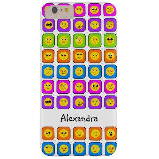 かわいい虹の名前の幸せなスマイリーフェイスの顔文字 BARELY THERE iPhone 6 PLUS ケース