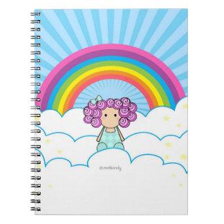 かわいい虹の女の子のノート ノートブック